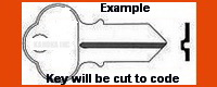 1002 KEY FOR CHICAGO LOCK DOUBLE SIDED DOUBLE BIT