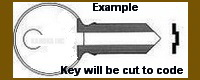 0DWC ODWC Key for Illinois Locks Double Sided