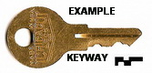 HMP81 Single Sided Key, CHICAGO LOCK
