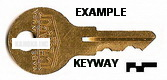 C1001 Replacement key for Cabinet locks with Chicago wafer