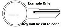 19T Key for Illinois Lock Applications