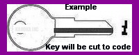 101T Key for TIMBERLINE FURNITURE