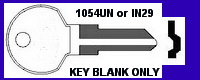 1054UN Ilco Key for Blank- UNCUT