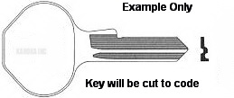 10G107 Replacement Key for Master Lock ProSeries See Note