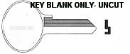 1092B M2 KEY BLANK ONLY- UNCUT