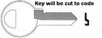 J01 J001 Master Lock Key for Padlock. Master #5 Padlock