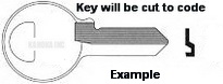 E103U KEY for MASTER PADLOCKS and misc., applications