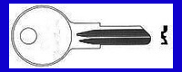 A1087 Single Sided Key 1929-31 FORD Door & Tire AUto BASCO