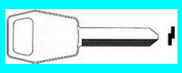 FA0049 Double Sided Key, 1981-90 FORD ESCORT- MERCURY LYNX