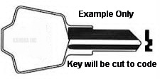 J Key SINGLE SIDE for SENTRY 1100 and SENTRY 1170