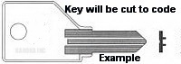 S1 Key for KNOLL, SHAW-WALKER and PUNDRA Locks