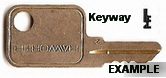 SL165 Single Sided Key HAWORTH