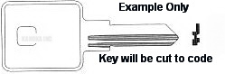 1604 TM4 Ilco Key for Blank- UNCUT