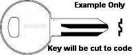 1001 Key for TRIMARK LOCKS ONLY Double Sided