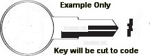 003 03 3 Key for SENTRY FIRE BOX SAFE ONLY TWO SIDED CUT