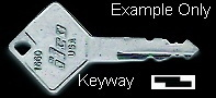 1101 Key for nuCamp Teardrop Campers for Rear Kitchen Galley