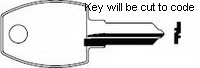 P0065 Key for Trendway and Friant furniture **