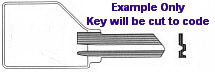 B101 Key Replacement for Lacasse Furniture using a Pundra Lock