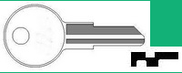 1401 Single Sided Key Chicago Wafer Lock