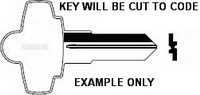 8064 Key for Craftsman Mac and Proto tool boxes Fort 6 wafer