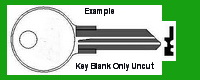 101AM AP-1 AP1 K101 Key for Blank- UNCUT