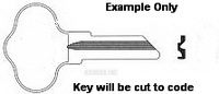 B Key for MERCURY and CHRYSLER OUTBOARD MOTORS