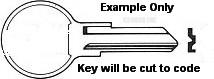 1B 01B Key for MERCURY and HONDA MARINE Applications and Boats
