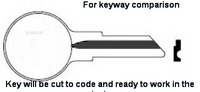 1C Key for MERCURY MARINE Applications ONLY