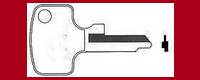 T4879 Single Side Key for Honda Motorcycles