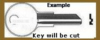 E102 Key for STAPLES-HON OFFICE EQUIP and HUDSON LOCKS