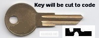 EL298 Key for Hudson and Stanley Locks