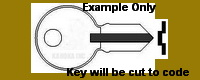 E101 Key for Illinois Locks, Double Sided
