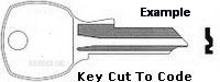 010 Key for NATIONAL 4 PIN LOCKS