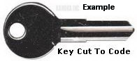 E116 Key for SEARS KARRITE 20-SV CARRIER-THULE- Jet Bag Explorer