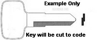 374 KEY for YAMAHA BOATS Replacement Key