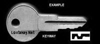 K189 Single Sided Key, HUDSON LOCK, KIMBALL ARTEC CENTRA
