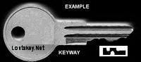 NSR235 Single Sided Key ANDERSON/HICKEY NATIONAL LOCK