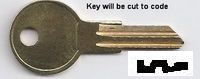 JP61 Key for VICTROLA and Yale Padlocks