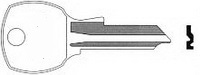 D103 Key for CORRY STEEL-AGE, NATIONAL 4 PIN